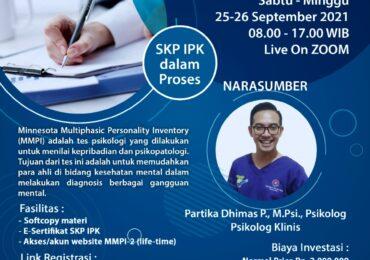 Workshop MMPI-2 Berbasis Website